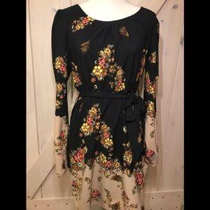 DEPT floral long sleeve dress
